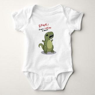 Rawr Means I love you in Dinosaur Baby Bodysuit