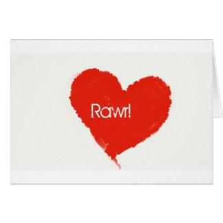 Rawr! means ily in dinosaur card