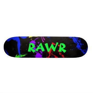 rawr Splatter paint skateboard