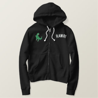 """Rawr!"" That means ""I Love You"" Embroidered Hoodie"