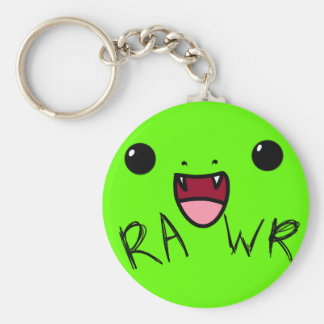 Rawr V.2 Basic Round Button Keychain