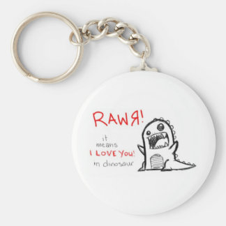 rawrr basic round button keychain