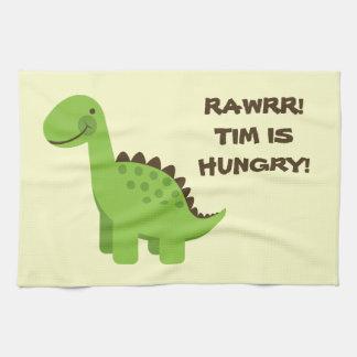 Rawrr! Hungry Dinosaur! Kitchen Towel