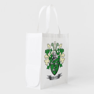 Ray Family Crest Coat of Arms Market Totes