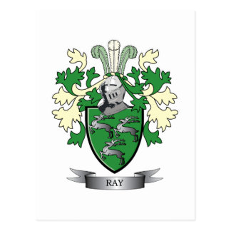 Ray Family Crest Coat of Arms Postcard