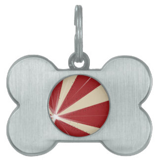 Ray Grunge Background Pet ID Tag