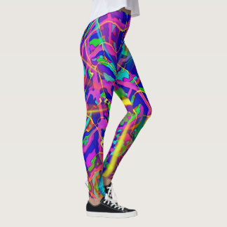 Ray of golden sun abstract Leggings