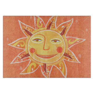 Ray Play Smiling Orange Sun Art Boards