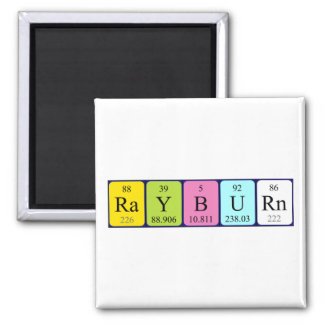 Rayburn periodic table name magnet
