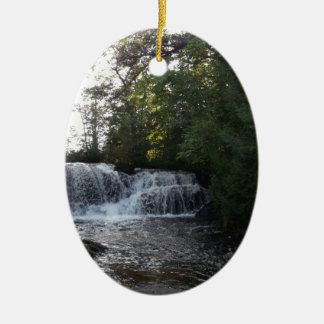 Rayleigh Falls Ceramic Oval Ornament