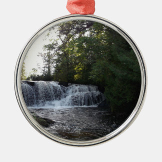 Rayleigh Falls Silver-Colored Round Ornament