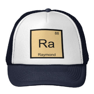 Raymond Name Chemistry Element Periodic Table Trucker Hat