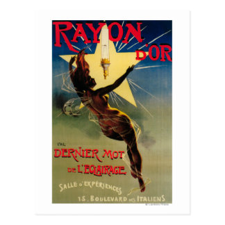 Rayon D'Or Restaurant Promotional Poster Postcard