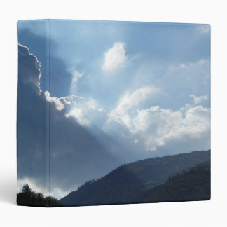 rays and clouds 3 ring binder