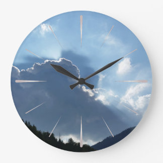 rays and clouds large clock