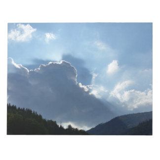 rays and clouds notepad