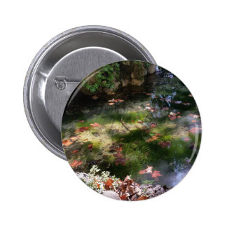 rays and leaves on water 2 inch round button
