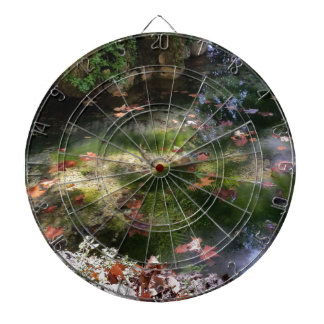 rays and leaves on water dartboards