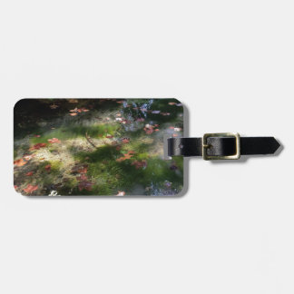 rays and leaves on water luggage tag