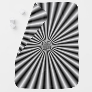 Rays in Black and White Baby Blanket