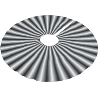 Rays in Black and White Brushed Polyester Tree Skirt