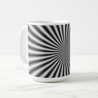 Rays in Black and White Coffee Mug