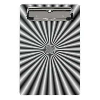 Rays in Black and White Mini Clipboard