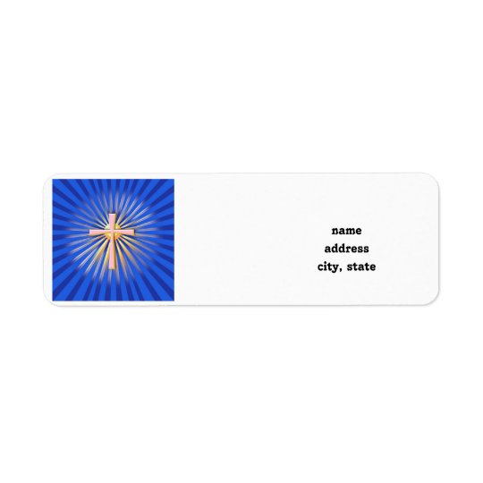 Rays of Light from the Religious Cross (On Blue)