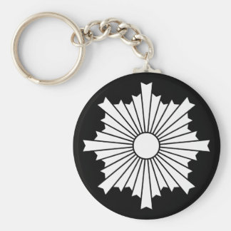Rays of the rising sun keychain