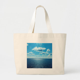 Rays over the Sea Large Tote Bag