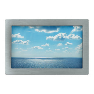 Rays over the Sea Rectangular Belt Buckles