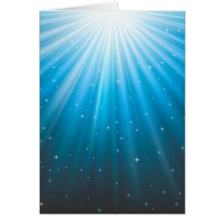 Rays Sun beam inspirational Card