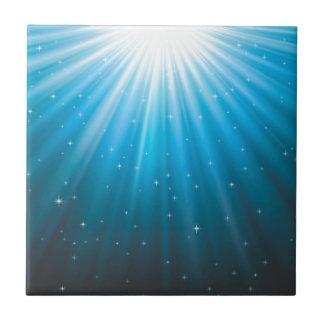 Rays Sun beam inspirational Tile
