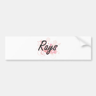 Rays with flowers background bumper sticker