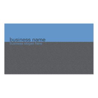 Rayure bleue/grise simple élégante simple carte de visite standard