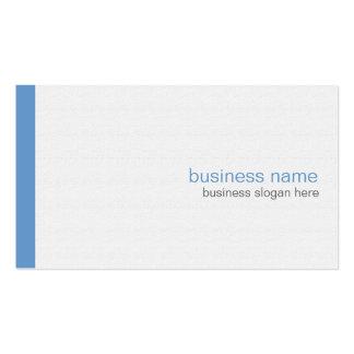 Rayure bleue simple moderne élégante simple sur le carte de visite standard