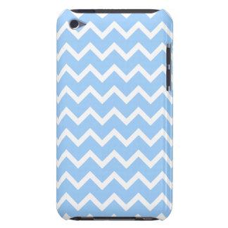 Rayures bleu-clair et blanches de zigzag coques iPod Case-Mate