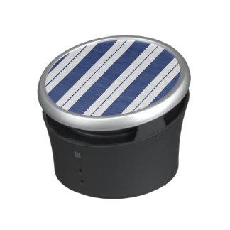 Rayures bleues et blanches haut-parleur bluetooth