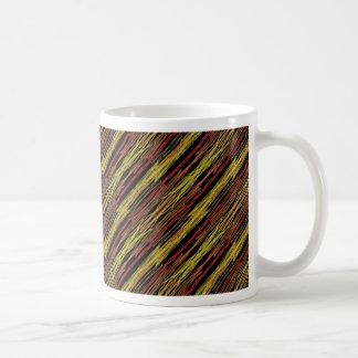 rayures, brun et jaune de safari mugs à café