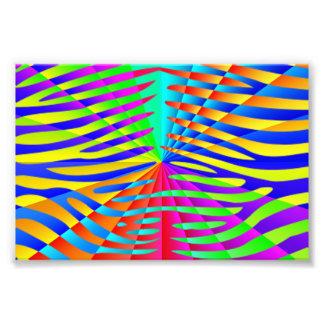 Rayures colorées d arc-en-ciel de motif à la mode photographe