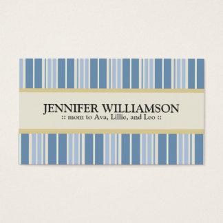 Rayures customisées à la mode de télécartes de cartes de visite