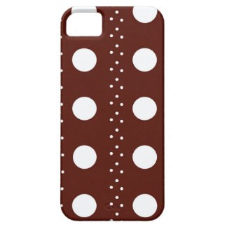 Rayures de Brown Polkadot Coque iPhone 5