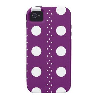Rayures de Polkadot de raisin Coques iPhone 4/4S