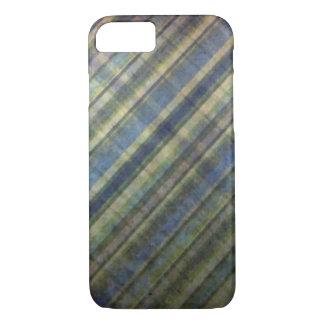 Rayures de sauge et de lavande coque iPhone 7