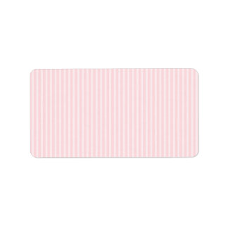 Rayures de sucrerie de rose en pastel étiquette d'adresse
