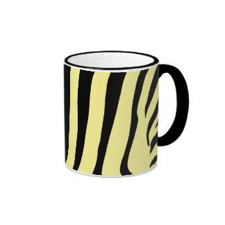 Rayures de tigre sur jaune citron tasse à café