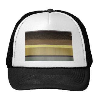 Rayures jaunes et brunes abstraites casquettes