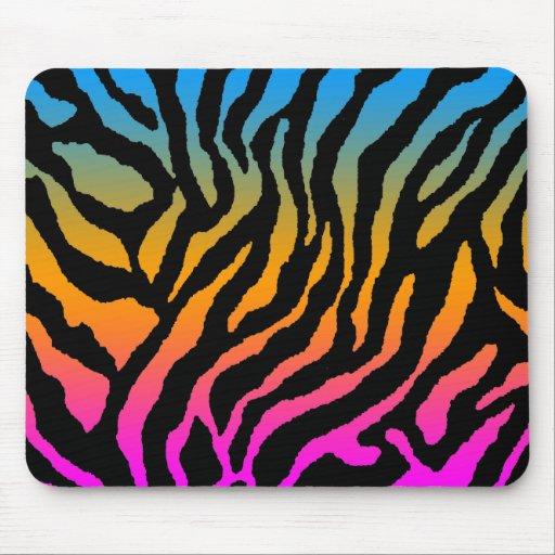 Rayures noires multicolores des ann es 80 de tigre tapis de souris zazzle - Tapis rayures multicolores ...