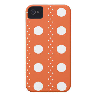Rayures oranges de Polkadot Coques Case-Mate iPhone 4