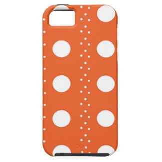 Rayures oranges et blanches de Polkadot Étuis iPhone 5